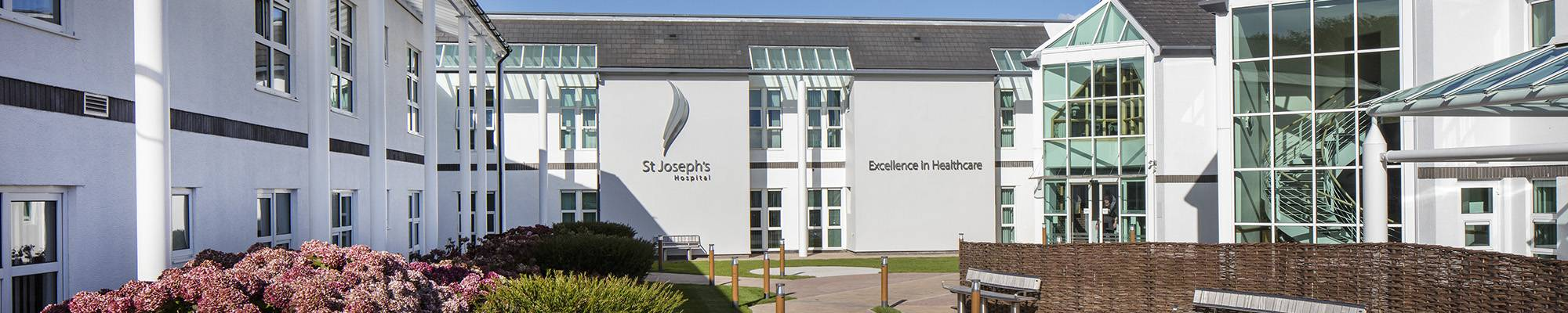 Front Entrance to St. Joseph's Hospital